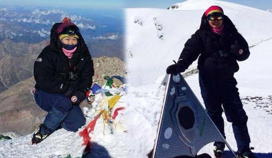 Европ тивийн ноён оргил Эльбрус уулын 5642 м өндөрт хөл тавилаа
