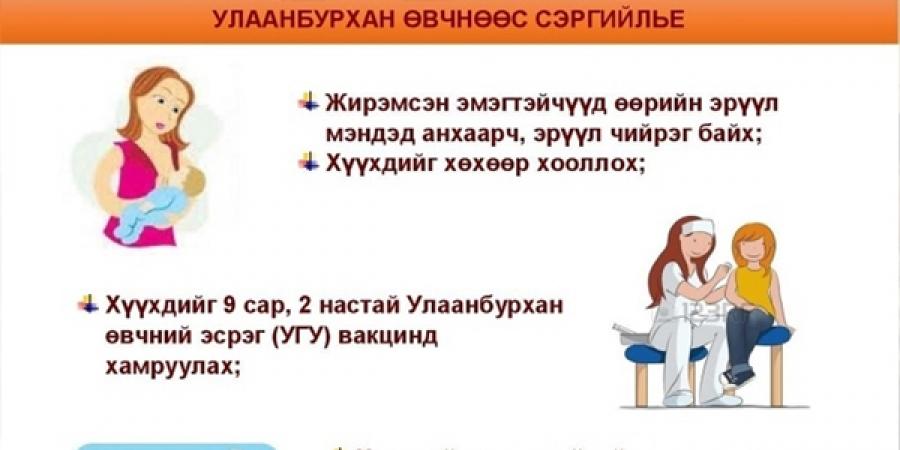 Улаанбурхан өвчний нэмэлт дархлаажуулалтаас хоцорсон хүүхдийг нөхөн вакцинжуулна