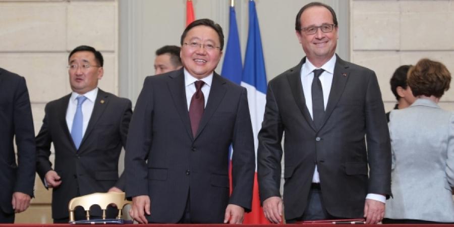 Монгол Улсын Ерөнхийлөгч Ц.Элбэгдорж, БНФУ-ын Ерөнхийлөгч Франсуа  Олланд нарын хамтарсан мэдэгдэл
