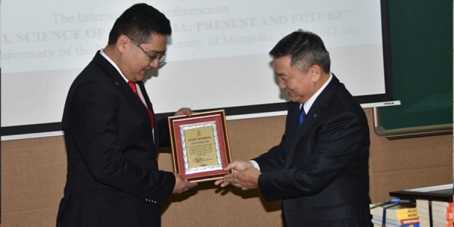 МУИС-ийн Хууль зүйн сургуулийн 55 жилийн ойн арга хэмжээний нээлтэд оролцов