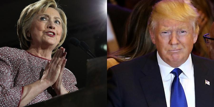 Нью-Йоркт Клинтон, Трамп нар яллаа