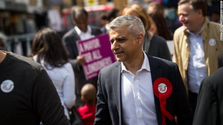 Мусульман шашинтай эр Лондон хотын захирагч боллоо