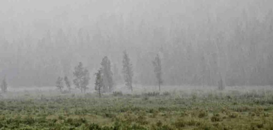 Хангай Хөвсгөлийн уулархаг нутгаар усархаг аадар бороотой