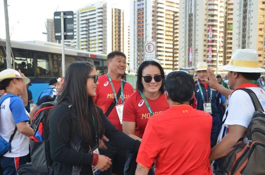 Рио 2016: Чөлөөтийнхөн тамирчдын тосгонд ирлээ