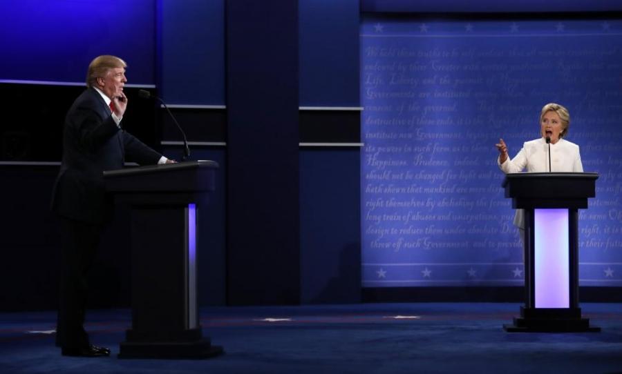 Хиллари, Трамп нар сүүлчийн халз мэтгэлцээнээ хийлээ