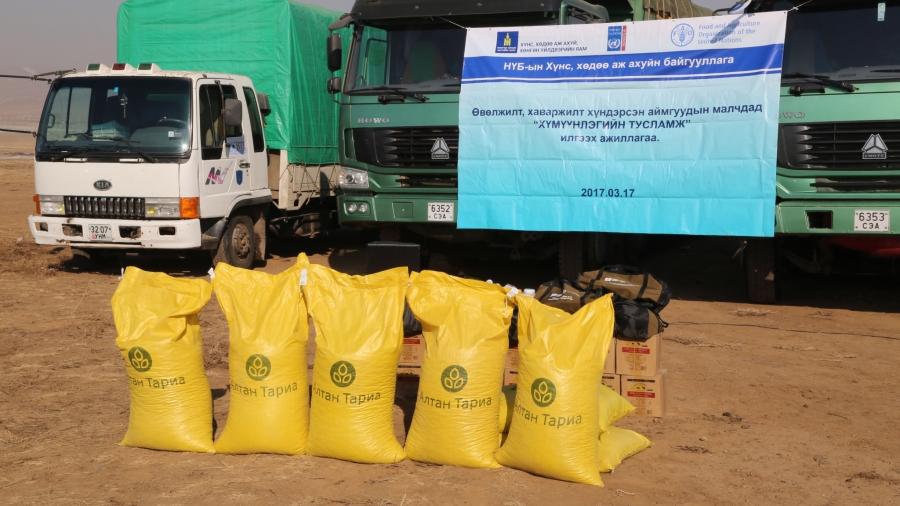 НҮБ-аас малчдад зориулсан тусламжийн багц илгээлээ