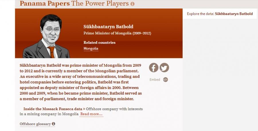 С.Батболдыг Монгол руу хөрөнгө оруулалт татсан гэж мэдээлжээ