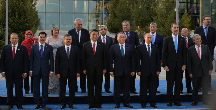 """Ерөнхийлөгч """"Астана Экспо-2017"""" үзэсгэлэнгийн нээлтэнд оролцов"""