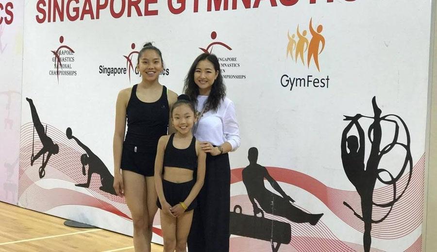 Гимнастикчид Сингапурын нээлттэй тэмцээнд оролцож байна