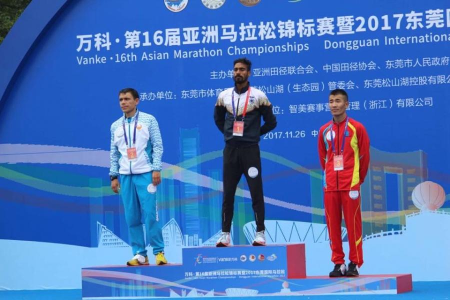 Марафонч Ц.Бямбажав Азийн аваргаас хүрэл медаль хүртлээ