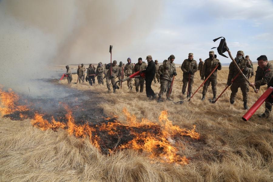 Хонинд явж байсан хүүхдүүд гал түлснээс болж түймэр дэгджээ