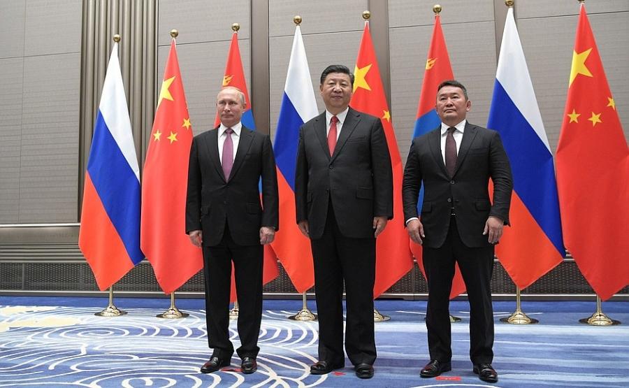 Монгол, ОХУ, БНХАУ-ын Төрийн тэргүүн нар уулзав