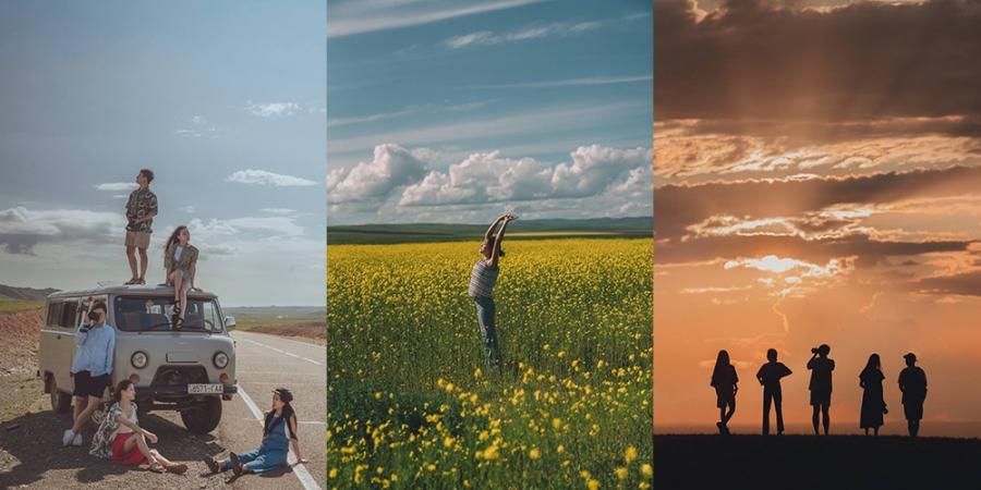 Монголд аялсан Солонгос залуусын сонирхолтой зургууд