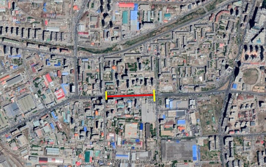 Чингисийн өргөн чөлөөний 0,4 км автозамыг түр хаана