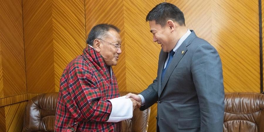 ЗГХЭГ-ын дарга Л.Оюун-Эрдэнэ Бутаны Хаант Улсын Дотоод хэрэг, соёлын сайдтай уулзлаа
