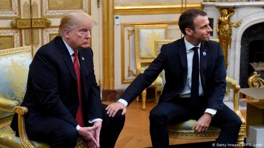 NATO-гийн чуулганы үеэр Макрон, Трамп нар ширүүн маргалдав