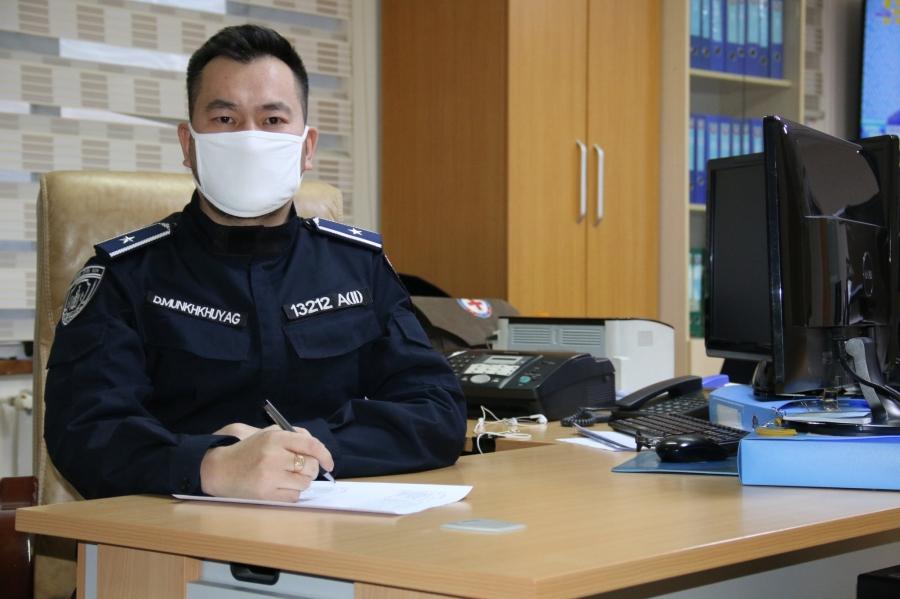 Д.Мөнххуяг: Цагдаагийн байгууллагаас халдвар хамгааллын хувцас, хэрэгсэл, халдваргүйтгэлийн бодисыг олгож байгаа