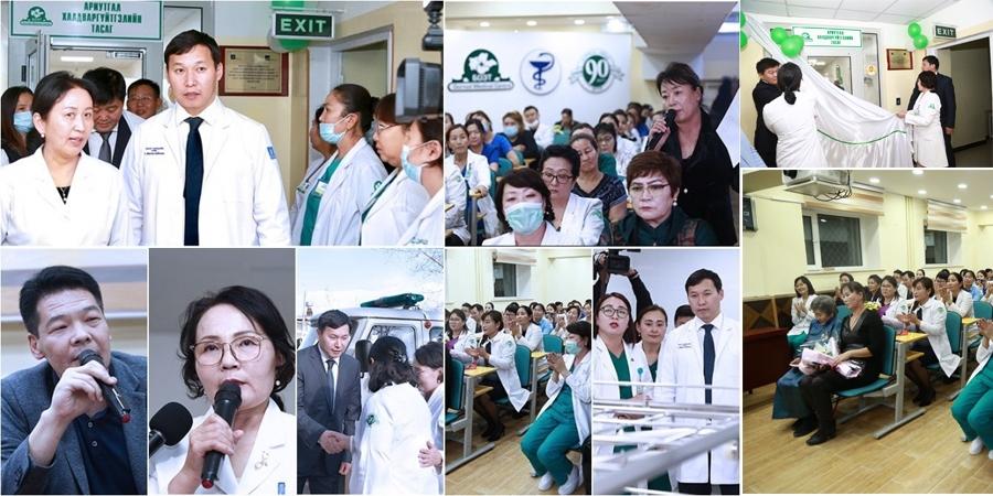 Эрүүл мэндийн сайд Дорнод аймгийн БОЭТ-д ажиллаж, Төвлөрсөн ариутгалын тасгийг хүлээлгэн өглөө
