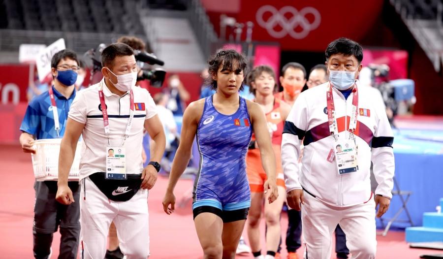 Токио 2020: Б.Хонгорзул хүрэл медалийн төлөө барилдахаар боллоо
