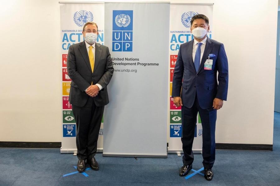 Ерөнхийлөгч У.Хүрэлсүх НҮБ-ын Хөгжлийн хөтөлбөрийн захирагч Аким Штайнертай уулзлаа