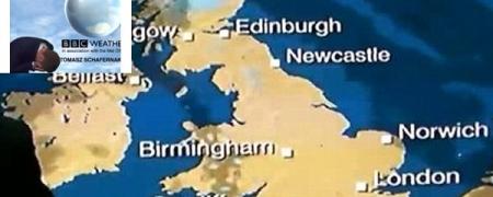 """""""ВВС""""-ын цаг уурч Эдинбург хаана байдгийг мартав"""