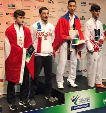 Пара-Таеквондоч Г.Болор-Эрдэнэ гурав дахь удаагаа дэлхийн аварга боллоо