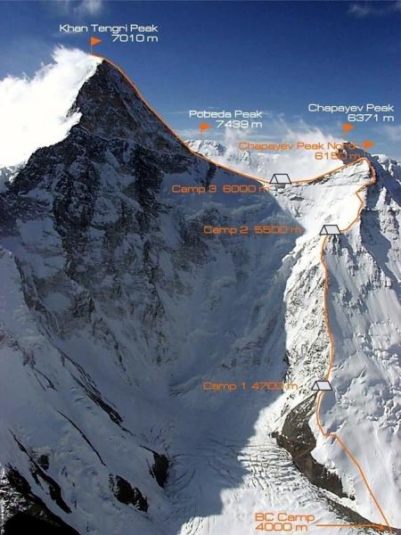 МУГТ Г.Өсөхбаяр тэргүүтэй уулчид Хан Тэнгэр ууланд авирна