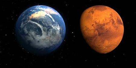 Марс гаригийг цэнхэр өнгөтэй байсан гэв