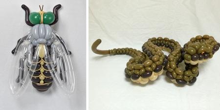 Японы уран бүтээлч Masayoshi Matsumoto - Хөөрхөн бөмбөлөгөн бүтээлүүд