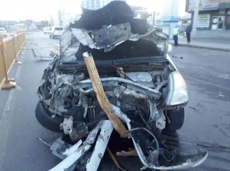 Согтуу жолооч урсгал сөрж 9 шар хайс, машин мөргөсөн ноцтой осол гаргажээ