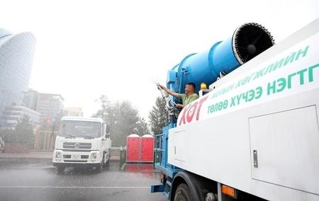 Төв цэнгэлдэх, Хүй долоон худагт агаар цэвэршүүлэгч машин ажиллаж байна