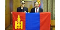 ОУХМ Б.Цэвээндаш-д Монгол Улсын Төрийн далбаа гардуулан өгөв