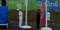Олимпийн тосгонд Монгол улсын төрийн далбаа мандлаа