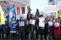ФОТО: Татвар болон тэтгэврийн насыг нэмсэнийг эсэргүүцэж иргэд жагслаа