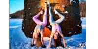 ФОТО: Хасах 41 хэмийн хүйтэнд йогийн дасгал хийдэг бүсгүйчүүд