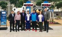 Паралимпийн наадамд оролцох баг тамирчид Солонгост очжээ