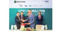 Нидерландын Хөгжлийн Банк (FMO) Европын 4 хөгжлийн банктай хамтран ХААН Банкинд 120 сая ам.долларын, урт хугацаат зээлийн санхүүжилт олгохоор боллоо