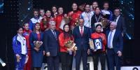 """Эмэгтэй бөхчүүд """"Оросын цом""""-ын тэмцээнээс долоон медаль хүртлээ"""