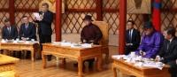 Ерөнхийлөгч Элчин сайд нар болон байнгын төлөөлөгчийн газруудын тэргүүн нарыг хүлээн авч уулзав