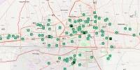 Аюулгүйн талбайн байршлыг Гамшгийн орон зайн мэдээллийн системд зураглан харуулж байна