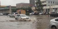 Нийслэлд орсон усархаг борооны улмаас замын зохиомол түгжрэл саатал бий болж байна