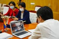 Шадар сайд Азийн хөгжлийн банкны удирдлагуудтай цахим уулзалт хийлээ