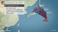 Далайн шуурга Токиог дайран өнгөрнө