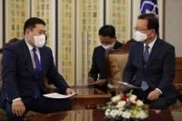 Ерөнхий сайд Л.Оюун-Эрдэнэ БНСУ-ын Ерөнхий сайд Ким Бү Гём-тэй уулзалт хийв